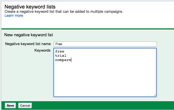 Targeting wrong keywords