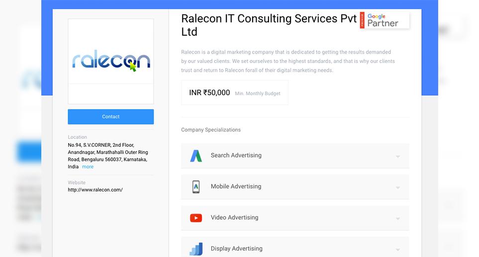 Web Design and Development Company in Bangalore, India | Ralecon
